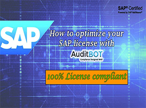 How to optimize SAP License with Auditbot